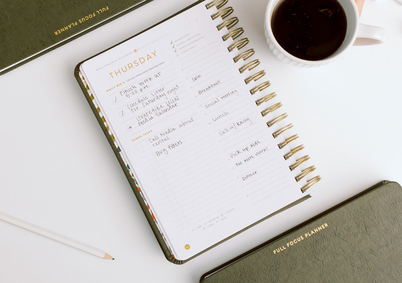 Daily view in the Full Focus Planner